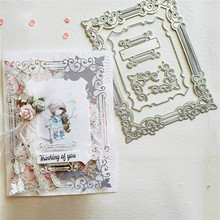 InLoveArts Cutting Dies Metal Dies Frame Set Die Scrapbooking Album Card Making Embossing Stencil Decor Diecuts inlovearts christmas dies tree metal cutting dies new 2019 for card making scrapbooking embossing album craft frame die cuts