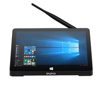Pipo X9S Win 10 Mini PC Intel Cherry Trail Z8350 Quad Core 1920X1080P 2G/32G Smart TV Box Bluetooth 4.0 HD Media Player 8.9 Inch