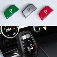 רכב Gear Shift מנוף כרום P כפתור כיסוי הילוך שינוי מכסה שחרור כפתור מפתח כיסוי לנד רובר ריינג רובר עבור יגואר F TYPE