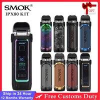 SMOK-Kit de vapeo para cigarrillo electrónico, Kit de vapeo con batería integrada de 80W, 3000mAh, 5,5 ml RPM, 2 Pod, IPX 80
