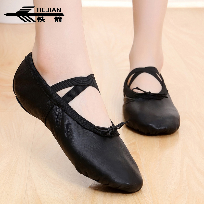 Genuine Leather Ballet Shoes Soft Bottom Breathable Ethnic Belly Dancing Shoes For Women Girls Exercise Cat's Claw Shoes