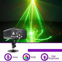 Mini RGB Laser Light 48/128 Patterns Portable Laser Projector for Stage Disco 5/6/8 LED for Stage Disco DJ High Light Efficienc