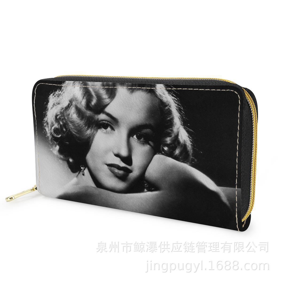 Marilyn Monroe Marilyn Monroe Figure WOMEN'S Long Wallet Pu Multi-functional Clutch Bag