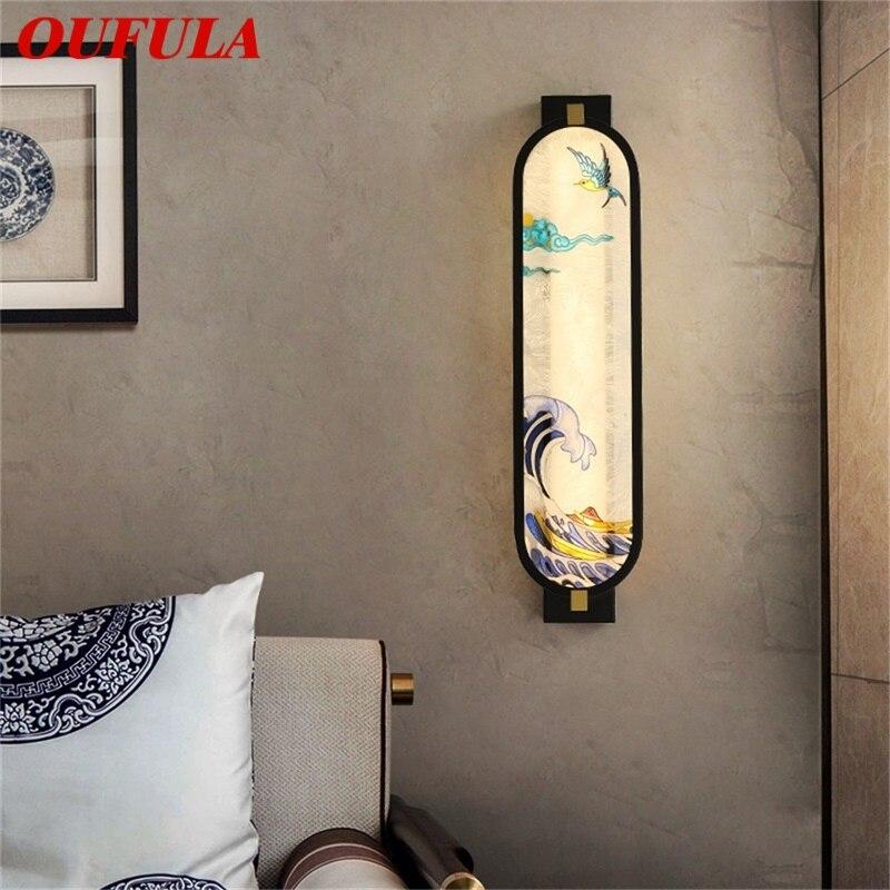 Настенные светильники oufula креативные комнатные декоративные