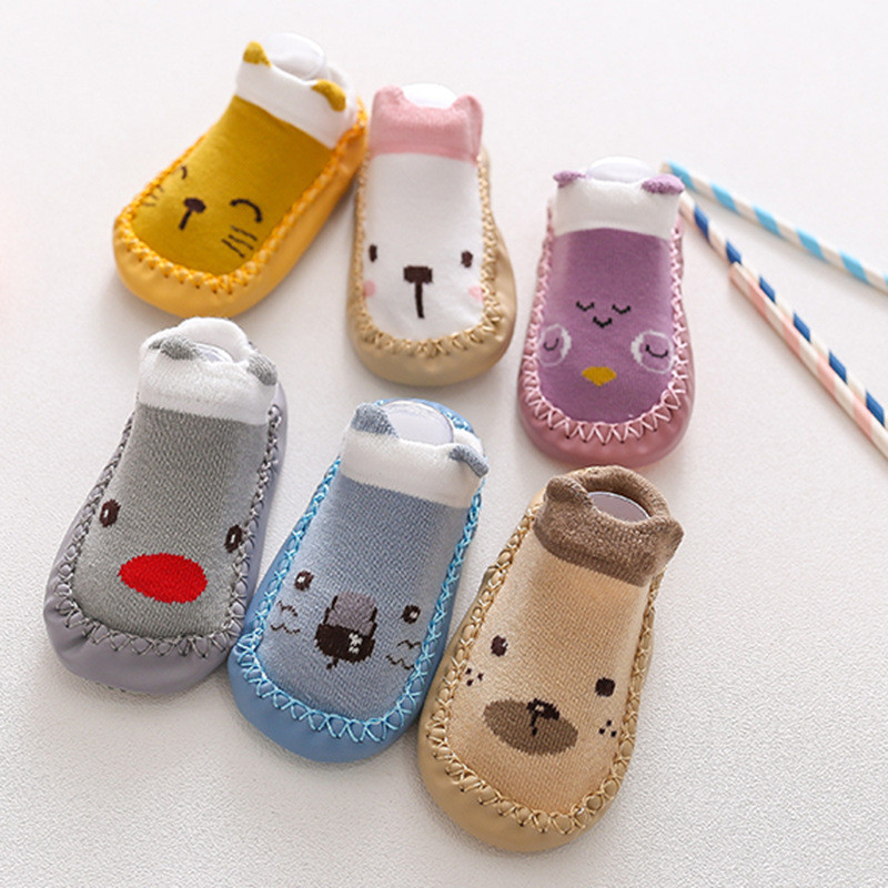2020 New born Baby Socks With Rubber Soles Infant Baby Girls Boys Shoes Spring Autumn Baby Floor Socks Anti Slip Soft Sole Sock 3