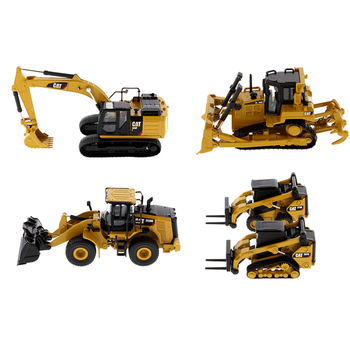 1/64 CAT Caterpillar excavator model boy collection ornaments alloy simulation engineering vehicle car model set caterpillar cat m316d wheel excavator 1 50 model by diecast masters 85171