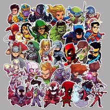 50 Pcs Super Hero Cartoon Stickers for Laptop Bicycle Luggage Motorcycle Phone PVC Waterproof JDM Graffiti Marvele Decal Sticker