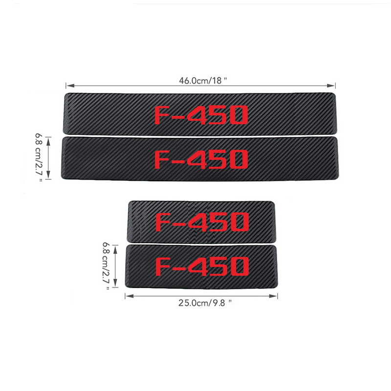 Image 3 - Car Interior Accessories Door Sill Scuff Welcome Pedal Threshold For Ford F 450 Carbon Fiber Protect Stickers-in Interior Mouldings from Automobiles & Motorcycles