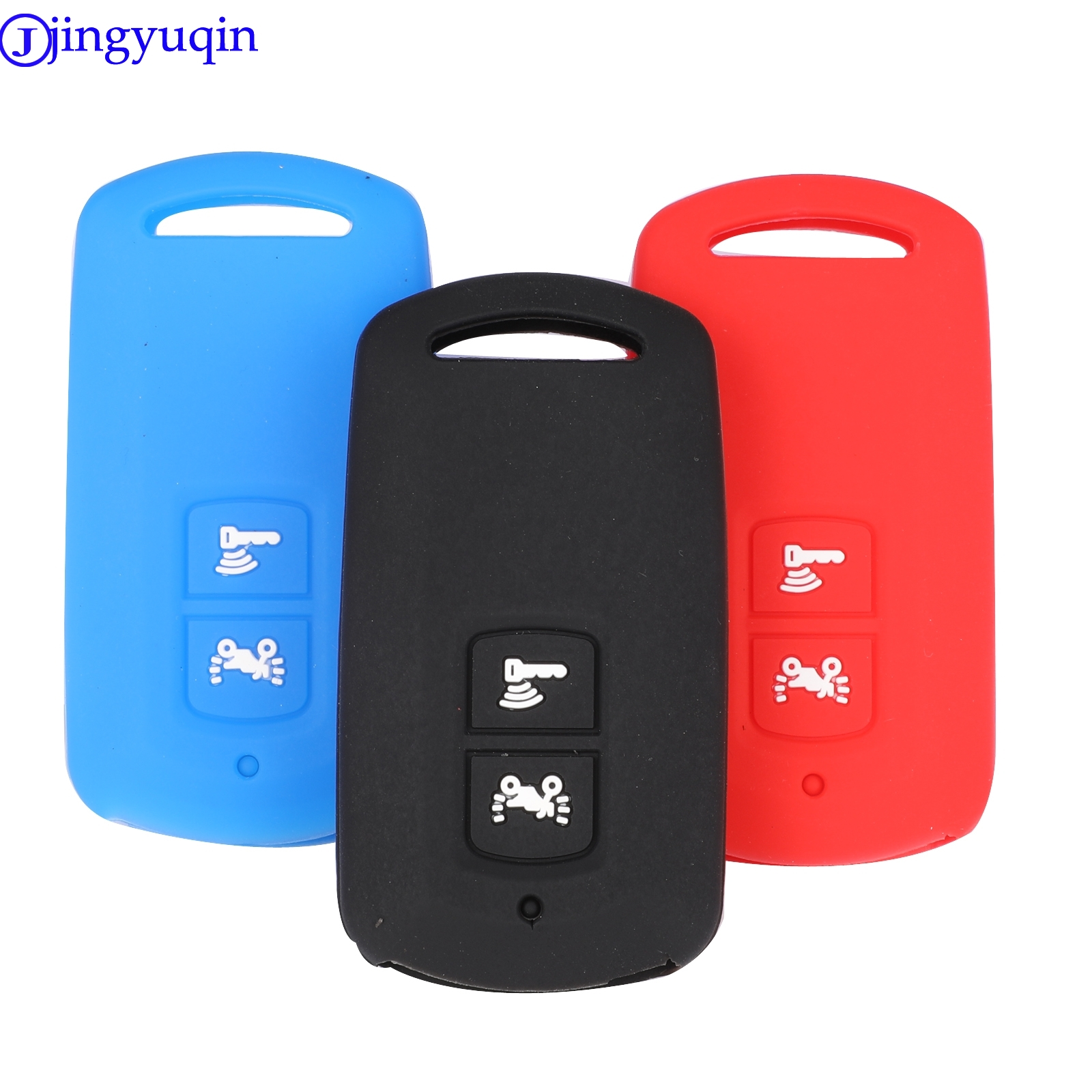 Jingyuqin Silicone Motor Key Cover Case Shell For Honda PCX 150 Hybrid X-ADV SH125 Scoopy SH300 Forza 125 2button Key