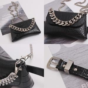 Image 5 - Fashion Womens Waist Bag Leather Belt Bags Fanny Pack High Quality Chain Waist Packs Hip Pack Multifunction Crossbody Handbag