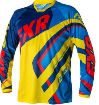 Motor Jersey DH MX bicicleta de montaña para FXR Jersey/ATV Da Corsa Di Fondo Traspirante hombres Camiciaelectric de la motocicleta DH