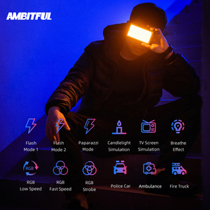 Image 2 - AMBITFUL luz LED regulable a todo Color K10 RGB 2500K 8500K para vídeo, fotografía, estudio, cámara DSLR, BL P1
