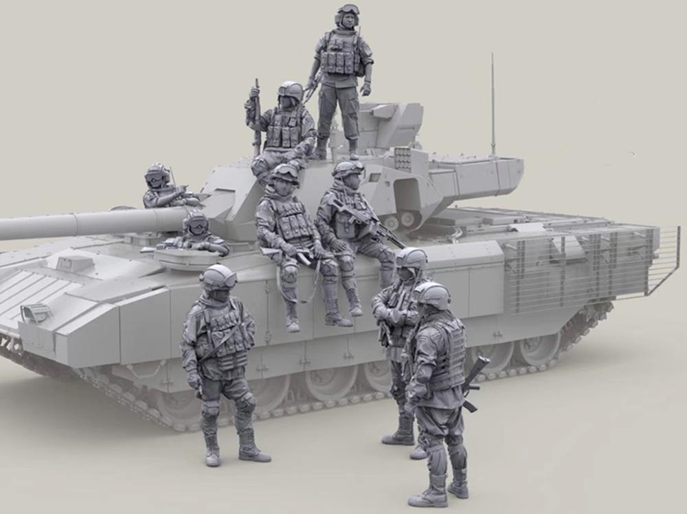 (9pcs/lot)1/35 Resin Model Kit Modern Russian Infantry (only Soldiers) Unpainted And Unassembled