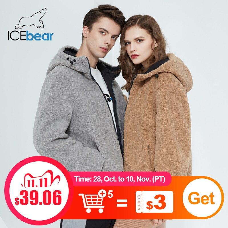 Icebear 2020 зима новая женская куртка с коротким хлопчатобумажным пальто флис куртка унисекс бренд одежды MWC20966D|Парки| | АлиЭкспресс