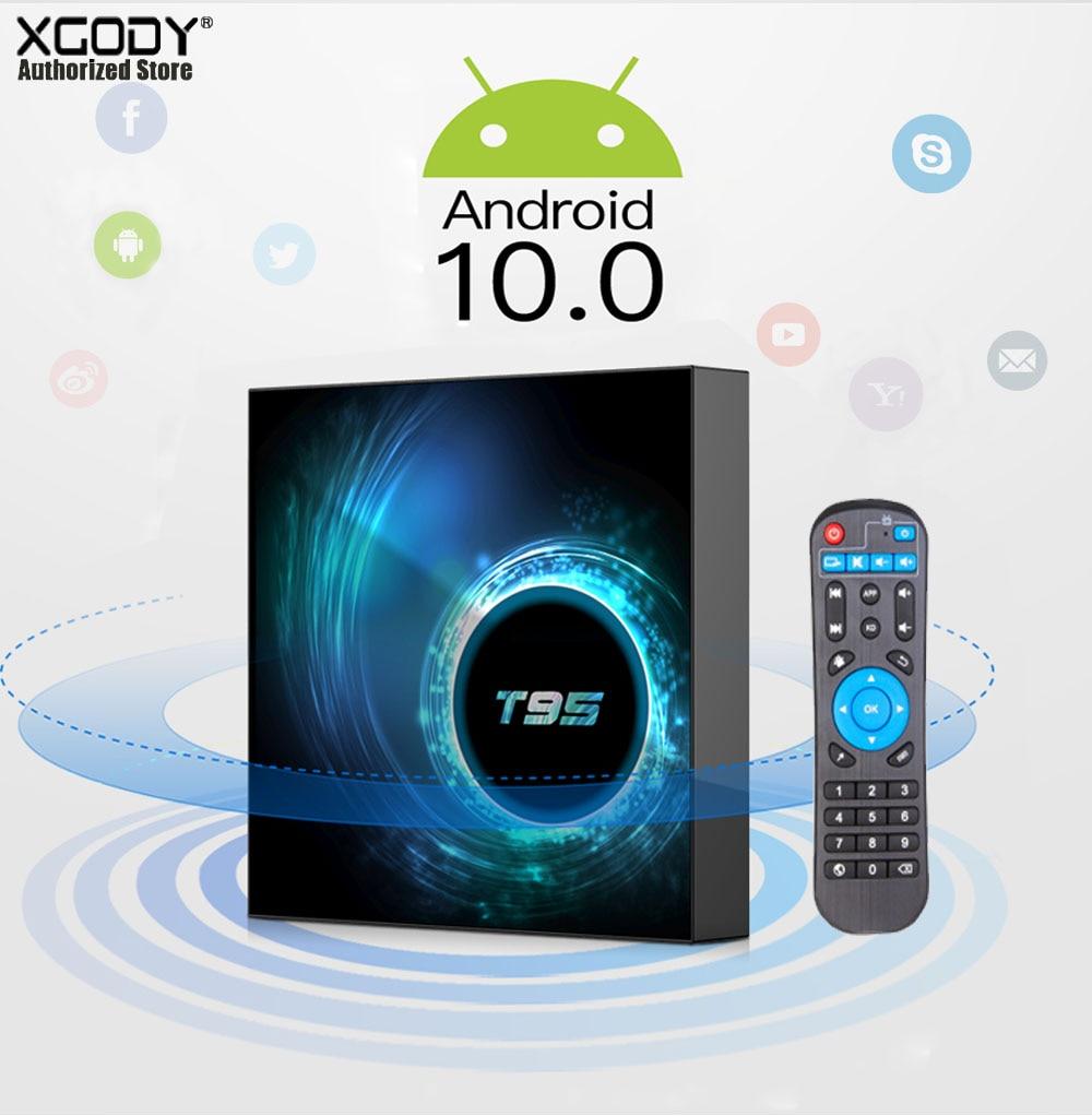 T95 H616 Wifi TV Box 6k 1080P HD Smart TV Box Android 10.0 4GB 32GB Set Top Box Network Function Media Box