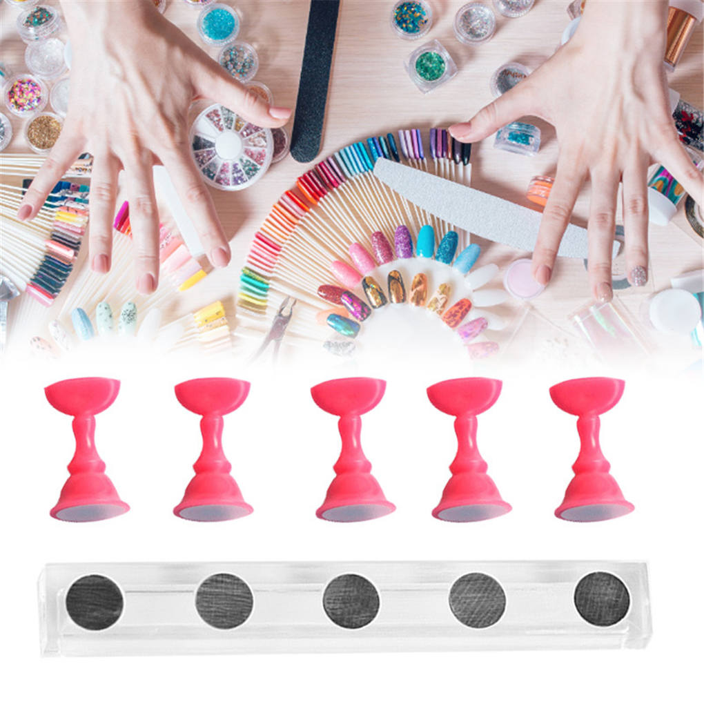 Nail Practice Train Display Holder False Nail Tip Rest Holder Stand Manicure Art Accessory