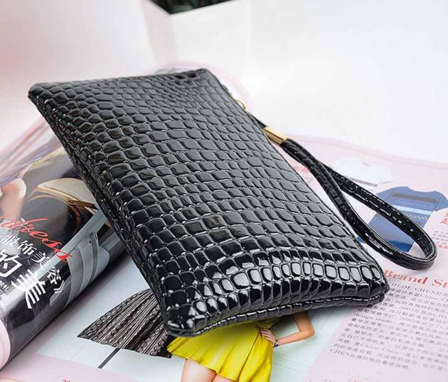Ha72a83cdee474b77ad5b3bb3af6b68fdD - Women Coin Purse small wallet Crocodile Leather