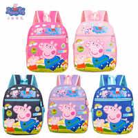 Nuevo Peppa Pig George Pink Pig bolso juguete de felpa cartera niño niña Kawaii Kindergarten bolsa billetera de mochila bolsa teléfono regalo para niños
