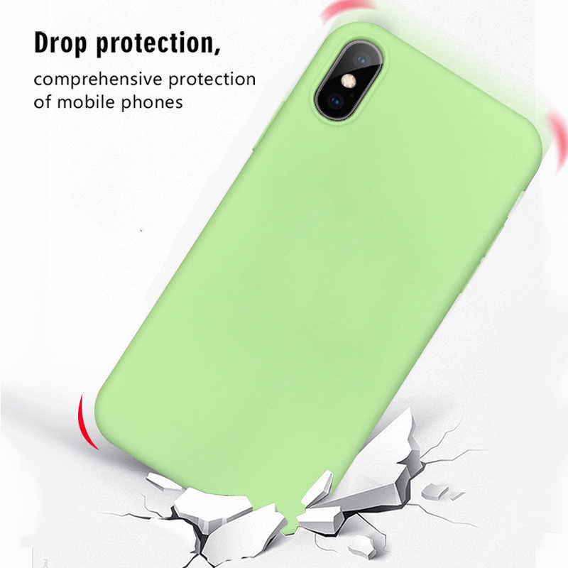 Para o iphone Caso XS XS MAX XR X 10 Macio Doce Cor Matte Cinco Cores Tampa Do Telefone Móvel Saco de Coque para o iphone 6 6s 7 8 Plus