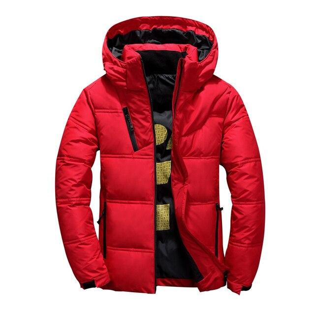 2020 neue Winter Jacke Männer Mit Kapuze Dicke Warme Ente Unten Jacke Männer Parka Casual Hohe Qualität Herren Mantel Winter Unten mäntel Männer