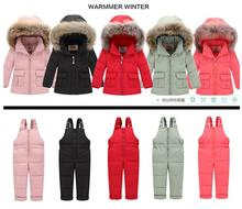 Russia spring coat children girl clothing sets kids baby boy girl clothes for new year's Eve parka Winter down jackets snow wear 2018 winter children clothing sets for girls warm duck down jacket for baby girl boy clothes children s coat snow wear kids suit