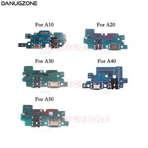 Oryginalny 10 sztuk dla Samsung A10 A20 A30 A305F A50 A505F A40 USB ładowania portu gniazdo gniazdo złącze ładowania pokładzie Flex Cable