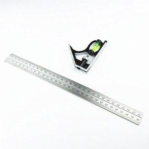 "Image 2 - DIY Präzise Edelstahl Mess Werkzeuge Aluminium Kombination Mobile Platz Werkstatt Hardware Winkel Wasserwaage 12 ""(300mm)"
