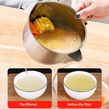New Stainless Steel Soup Oil Separator Stainless Steel Filter Strainer Bowl Container Kitchen Tools Filter Bowl bai lin tong oil soup diet bailingtong oil tang zhengpin lotus soup a bowl of oil stocks blue tea soup page 3