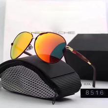 For Porsche SunGlasses Polarized Sunglasses Women 2019 Driving Glasses Men  Mirror Case