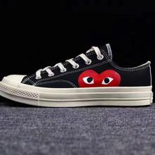 Converse All-star classic CDG PLAY x 1970s Daily leisure High/Low Unisex Shoes high quality Canvas Skateboard Shoes