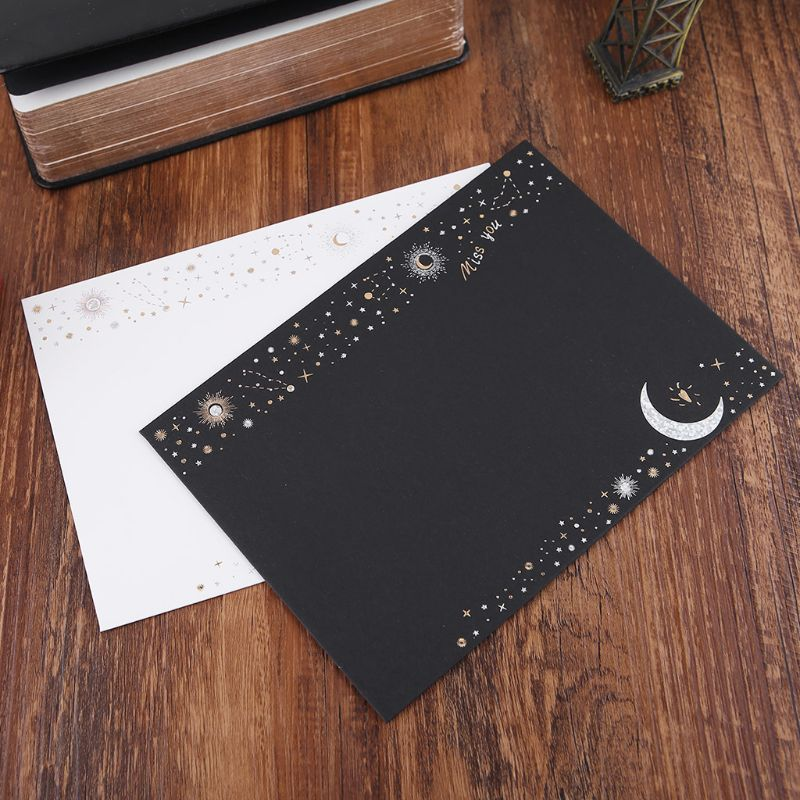 6pcs/pack Starry Sky Writing Letter Envelope Romantic Creative Small Fresh Japanese Style Letter Bag LX9A