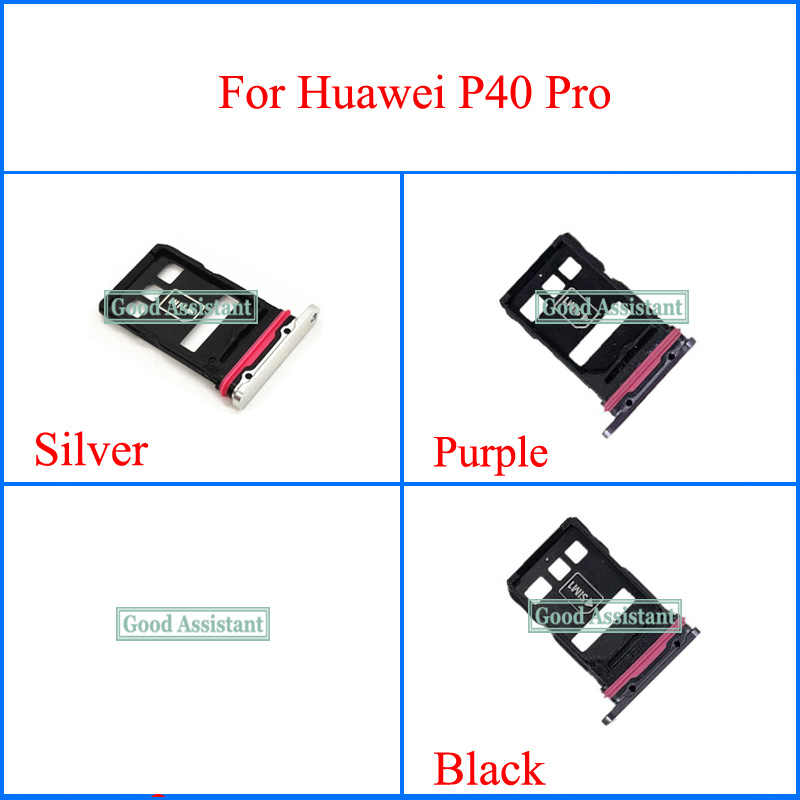 Для Huawei P40 Pro Sim Tray Micro SD слот для держателя карты Запчасти для замены адаптера Sim-карты