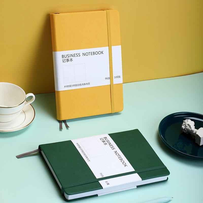 Ретро эластичный бандаж в твердом переплете пуля точечный Блокнот Журнал А5 канцелярские принадлежности однотонный чернильный толстый бумажный дневник|Записные книжки|   | АлиЭкспресс