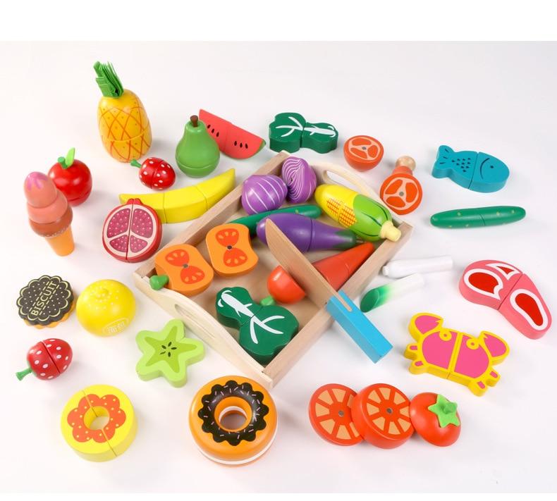 frutas corte crianças brincar casa brinquedos menina presente de natal