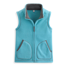 2020 winter childrens clothes boys vests causal solid slim fleece baby unisex cardigan vests for girls kids zipper waistcoat