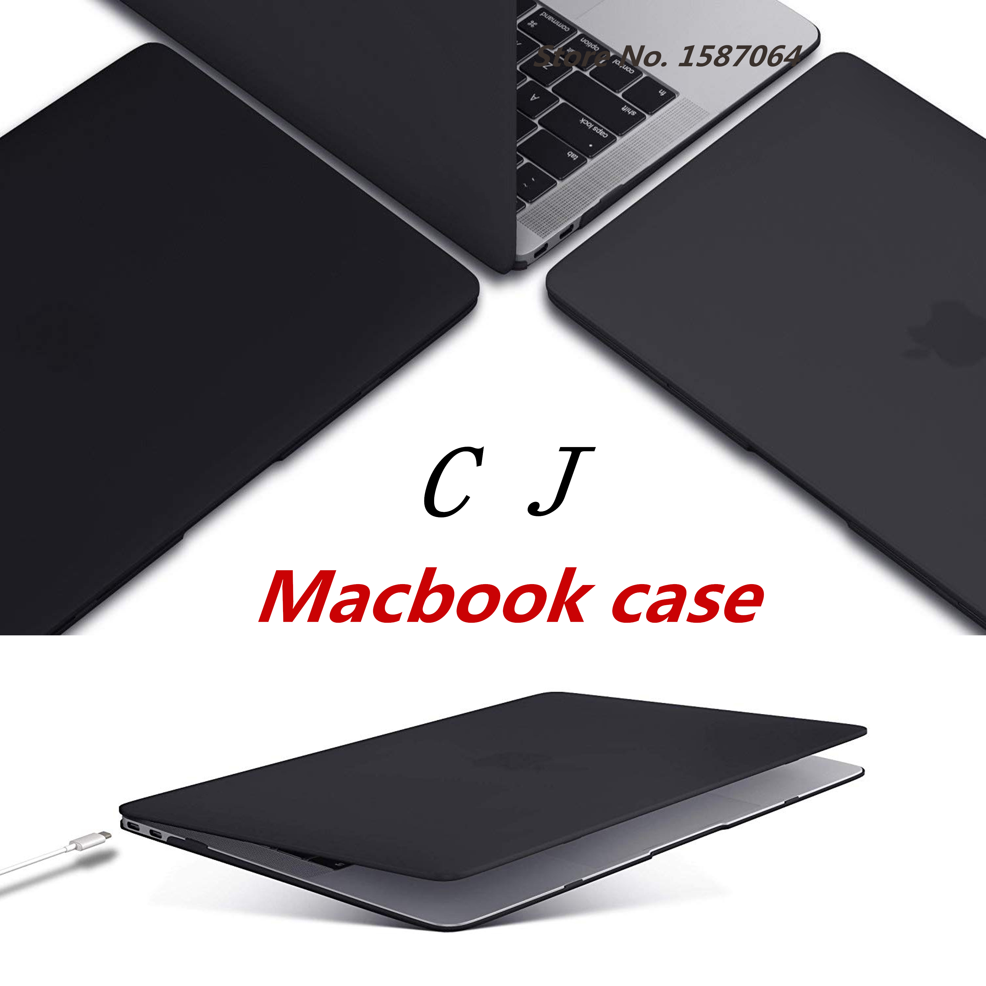 Laptop Case For Apple MacBook Air Pro Retina 11.6 12 13.3 15.4 Inch For Mac New Air 13 Pro 13 15 A2159 With Touch Bar 2018 ID