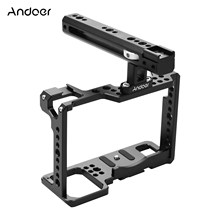 Andoer-Kit de jaula de cámara de marco completo, accesorios de vídeo con mango superior, funda con soporte de aleación de aluminio para cámaras S1H