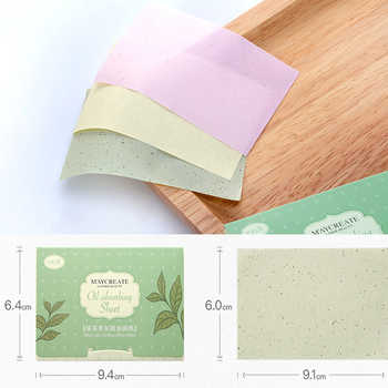 100pcs Korea Fragrant Tissue Paper Face Oil Absorbing Paper Plant Fibres Breathable Linen Pulp Blotting Paper For Face