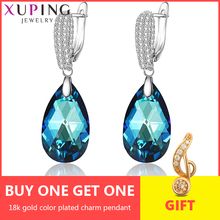 Xuping Water Drop Earrings  Crystals from Swarovski Elegant Jewelry for Girl Wome Party Exquisite Gift M62-20491