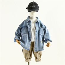Shirt Blouse Clothing Spring-Boys Korean-Style Cotton Long-Sleeved Children's Casual