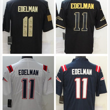 Football-Jersey Edelman American White Men 11 Stitched Customized Black Blue Best-Quality
