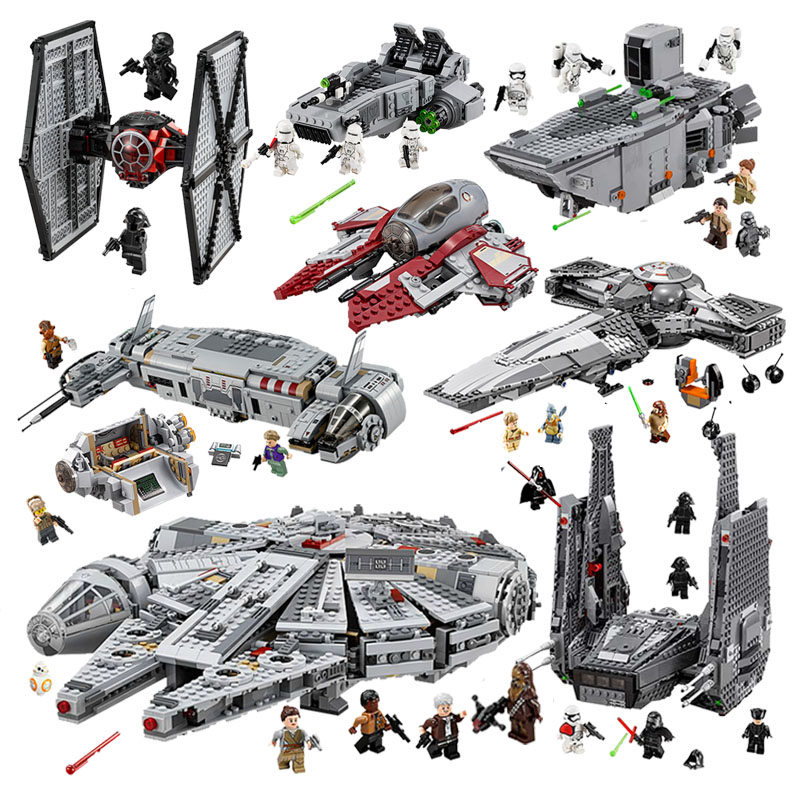Starwars 05004 05145 10900 X Wing Star Starfighter Fighter Building Blocks toys for Children Compatible All Brand Star Plan Wars