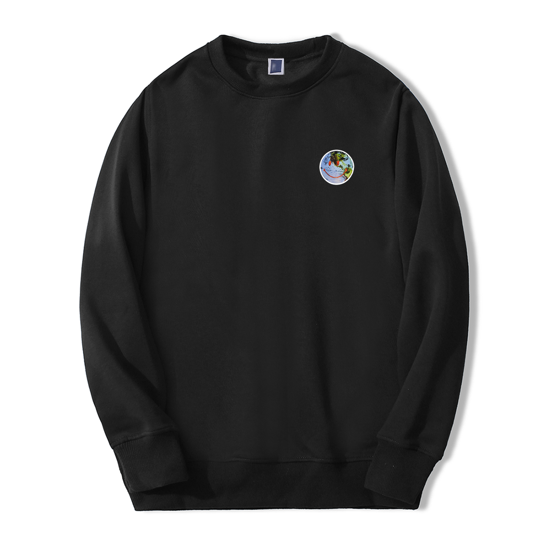 2019 Men New Fashion Sweatshirts Hoodie Funny Environmental Protection Earth Smile Streetwear Casual Autumn Fashion Sportswear