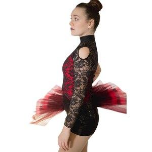 Image 3 - 소매 도매 여성 그릴 라틴 재즈 발레 레오타드 투투 스팽글 나일론/라이크라 레이스 댄스웨어