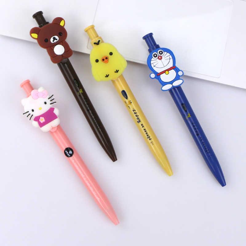 1 pçs/lote Kawaii Japão Projeto Animal Dos Desenhos Animados Caneta esferográfica 0.5 milímetros Caneta Esferográfica Escola Escritório Produtos de Papelaria