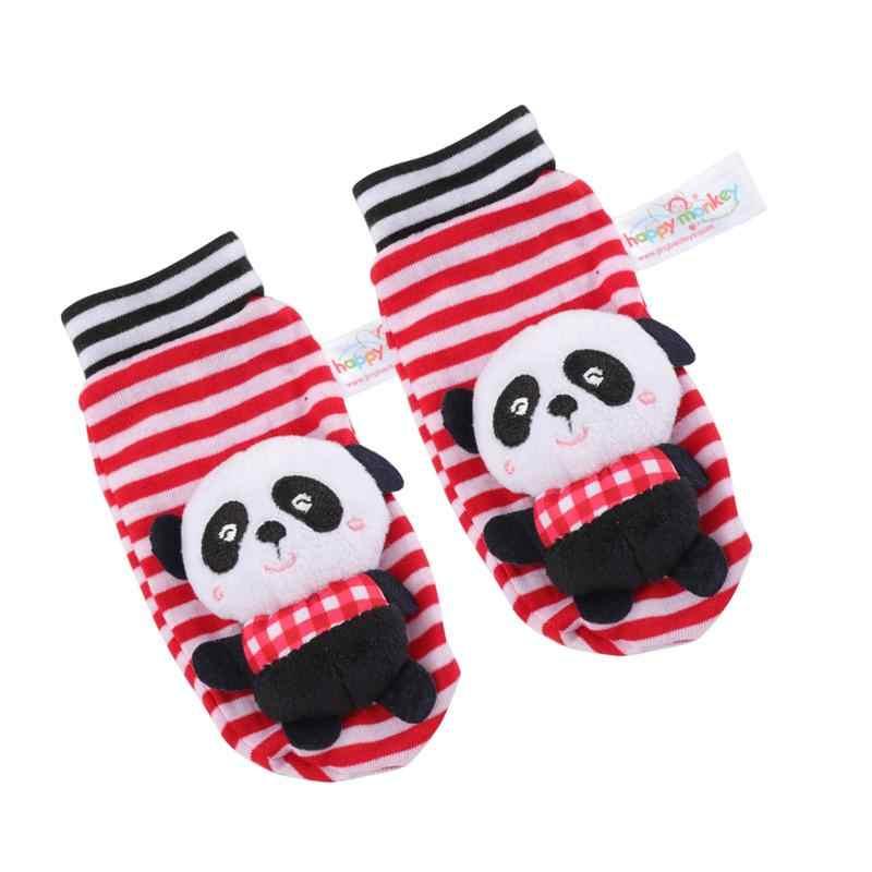1 ペアラブリーパンダの形のぬいぐるみ子供靴下ソフトストッキングカジュアル暖かい幼児の靴下自宅の屋外