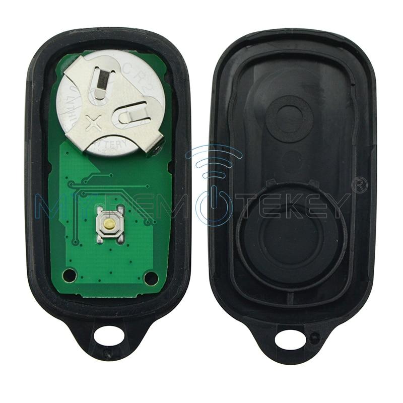 Remote car key fob 4 button for Toyota Camry Solara Corolla Matrix - Auto Replacement Parts - Photo 2