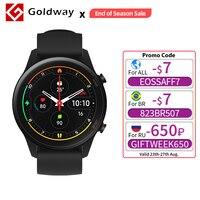 Xiaomi-reloj inteligente Mi Watch, accesorio de pulsera resistente al agua 5ATM con GPS, control del ritmo cardíaco y del oxígeno en sangre, Bluetooth y versión Global