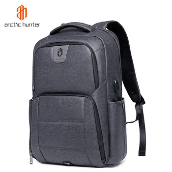 ARCTIC HUNTER Business Travel Backpack for Men Casual School Bags USB Charging Laptop Backpacks Male Waterproof Bag pack Mochila frn business usb charging bag men 17 inch laptop backpack waterproof high capacity mochila antitheft casual travel backpack bag