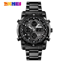 SKMEI Digital Watch Men Sport Luxury Business Quartz Stainless Steel Strap Watches Waterproof reloj hombre